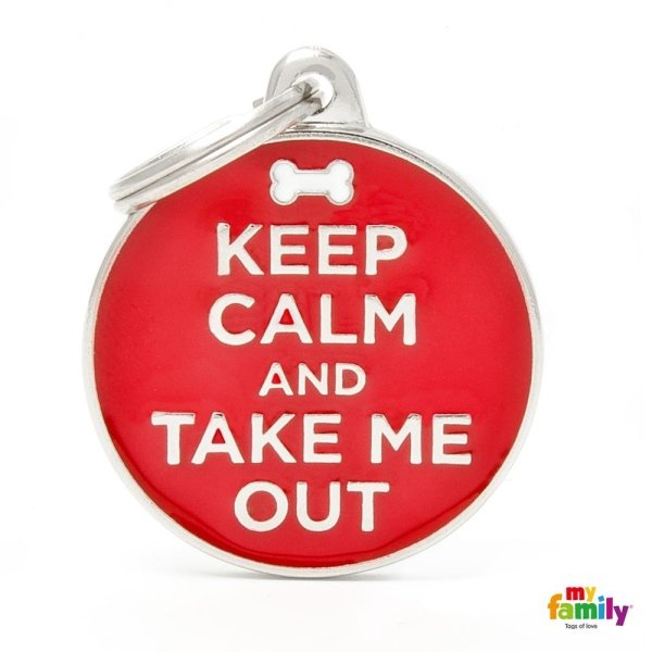 portachiave con scritta keep calm and take me out