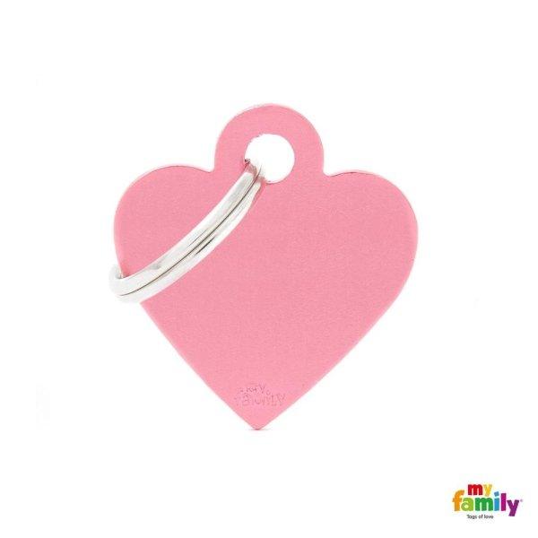 medaglietta cuore rosa