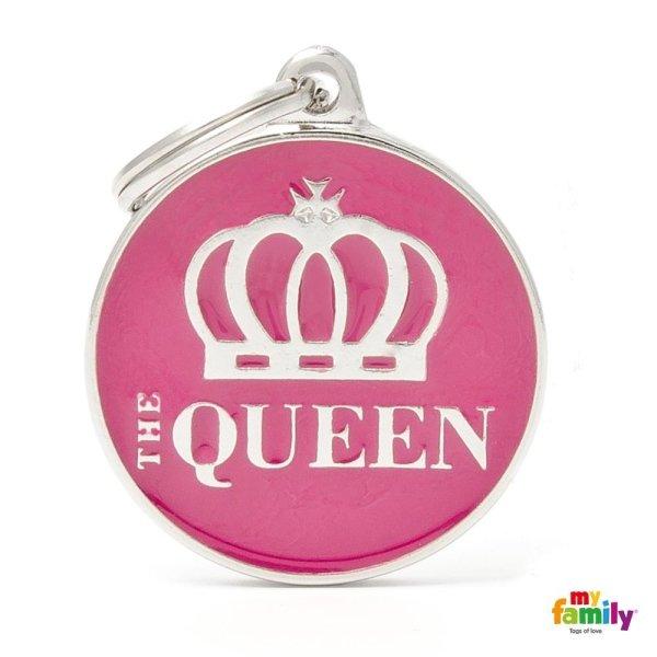 portachiave con scritta queen
