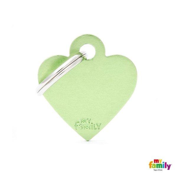 medaglietta cuore verde
