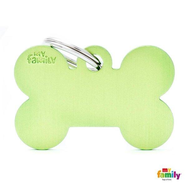 medaglietta osso verde