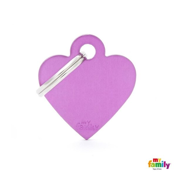 medaglietta cuore viola