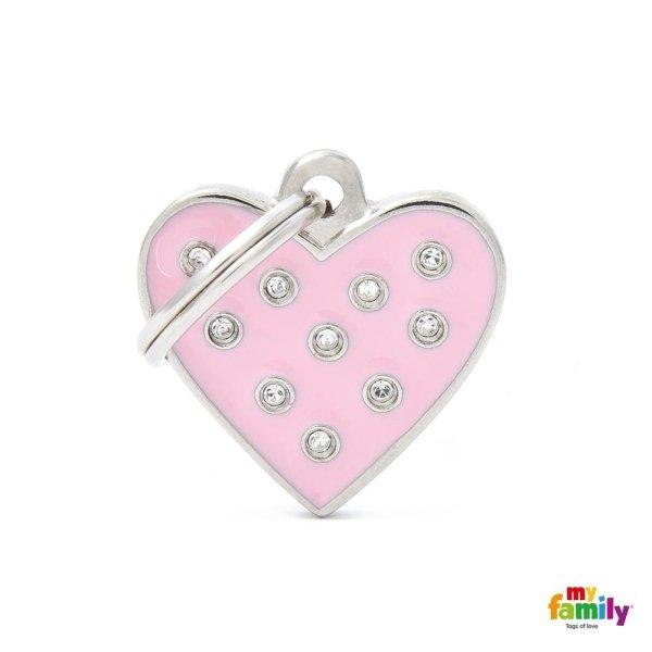 portachiave a forma di cuore di colore rosa