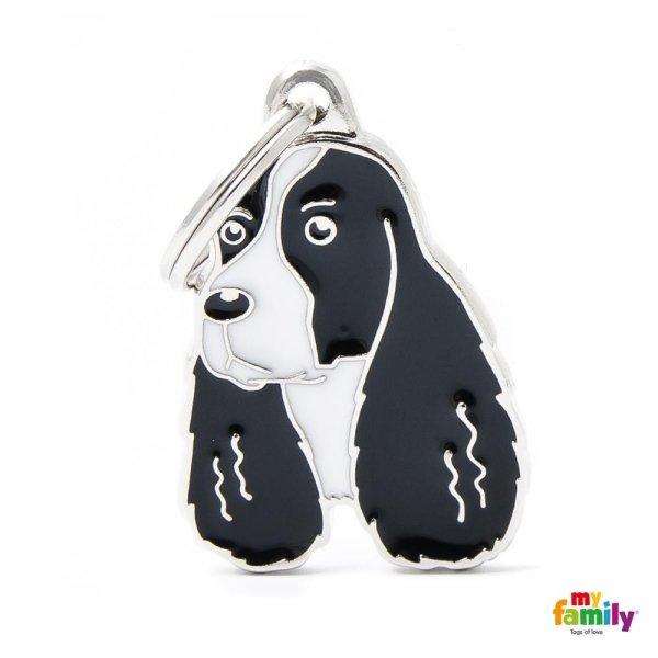 portachiave a forma di cane nero