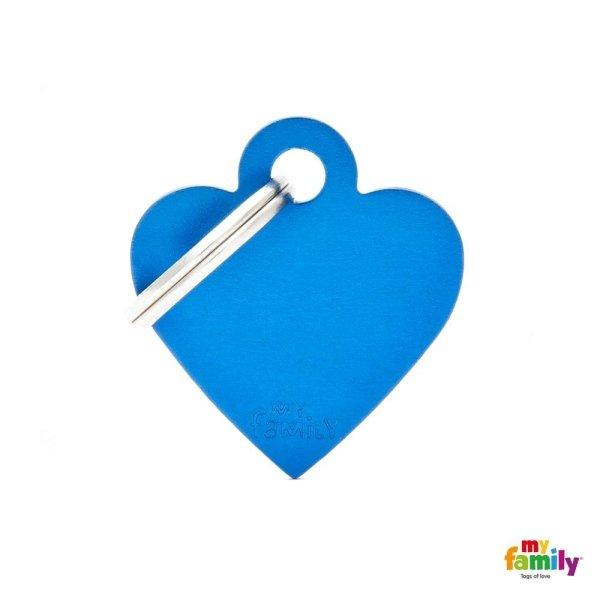 medaglietta cuore azzurro