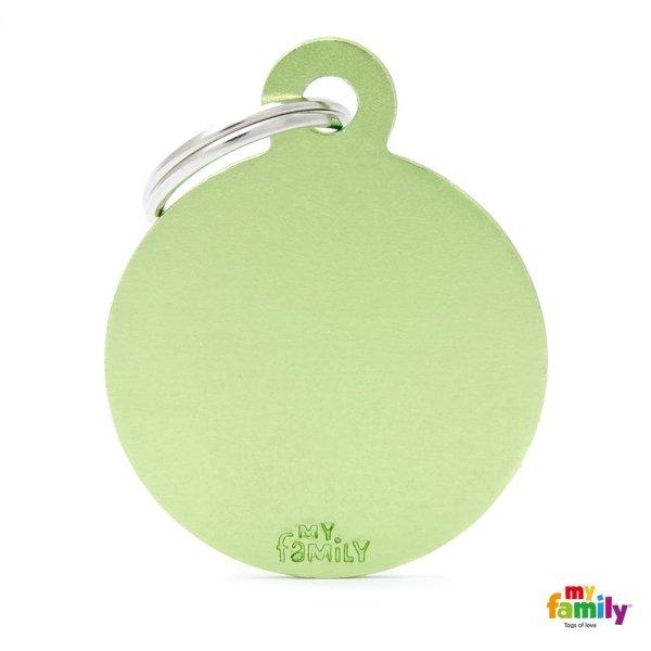 medaglietta ciondolo verde