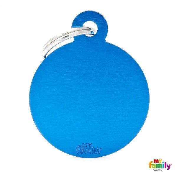 medaglietta ciondolo azzurro