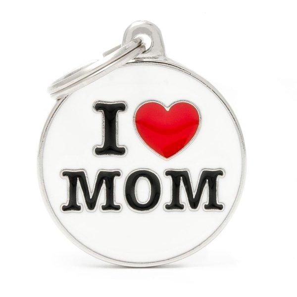 portachiave con scritta i love mom