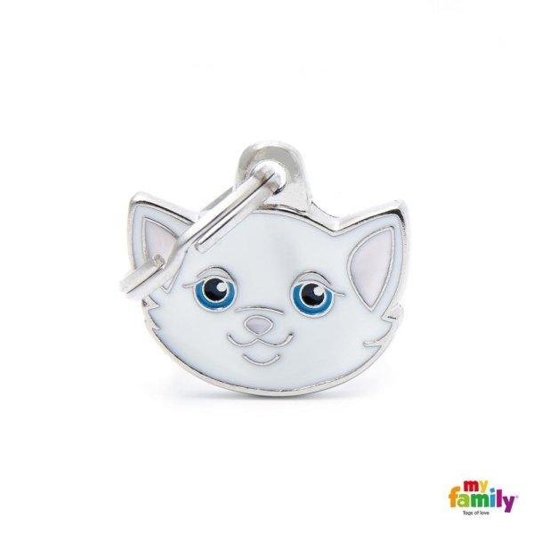 portachiave a forma di gatto bianco