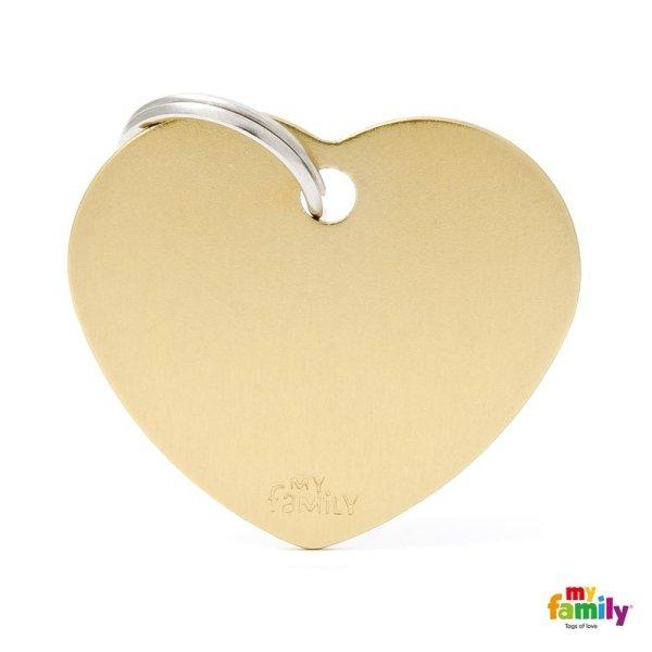 medaglietta cuore beige