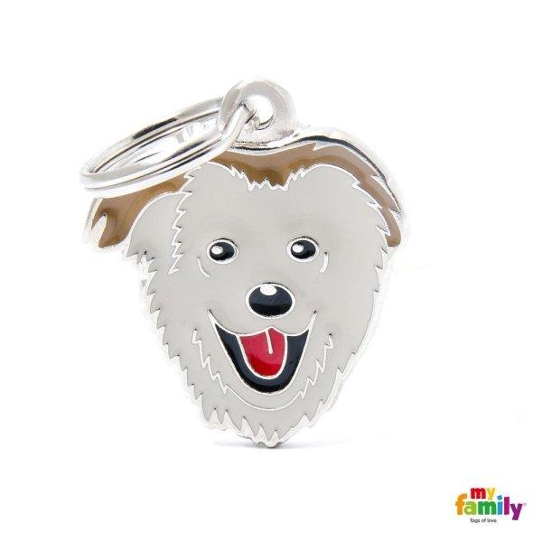 portachiave a forma del cane bianco