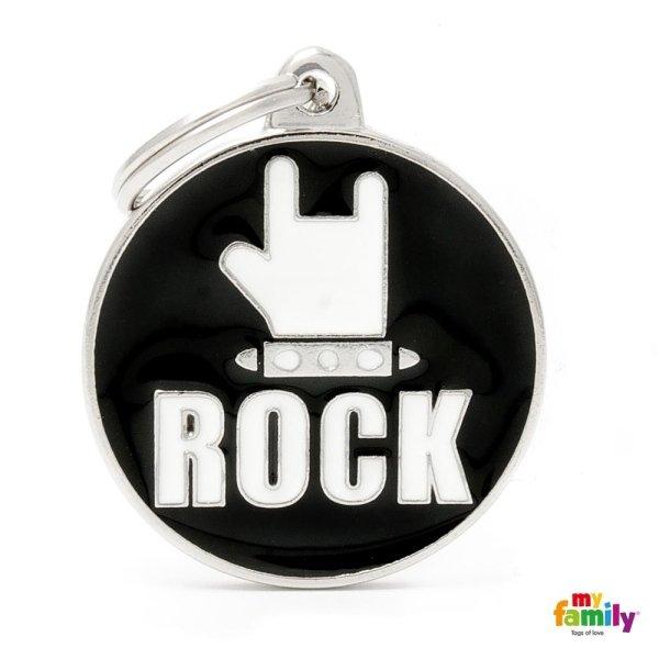 portachiave con scritta ROCK