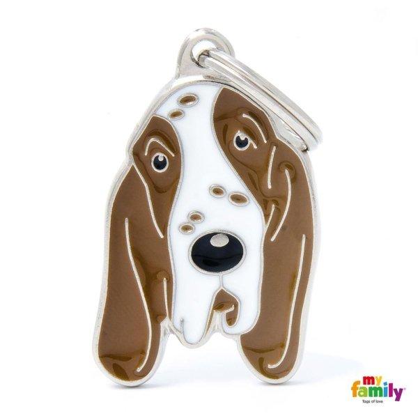 portachiave a forma del cane con lungo orecchio