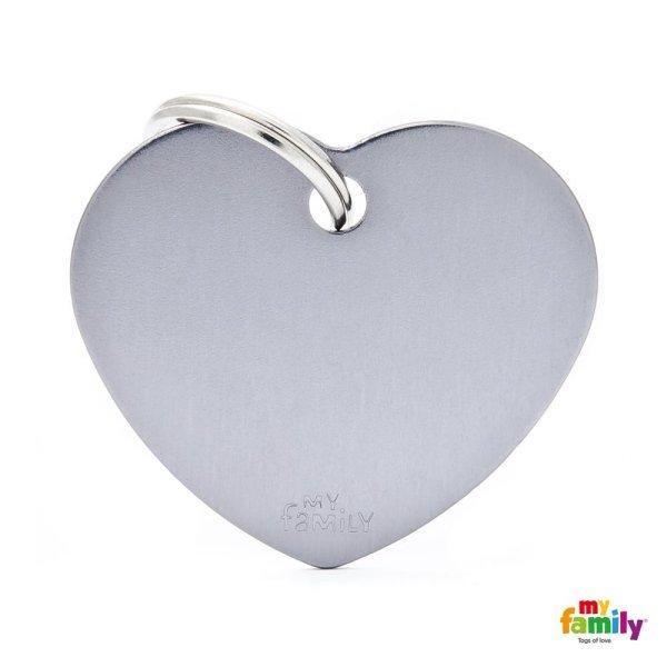 medaglietta cuore grigio