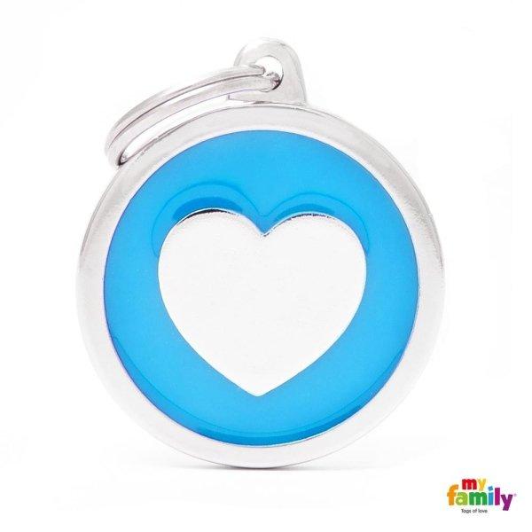 portachiave a cuore azzuro