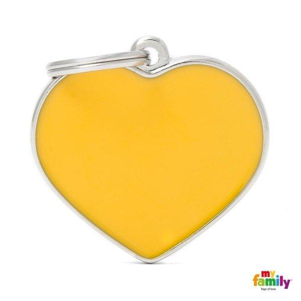 ciondolo cuore giallo