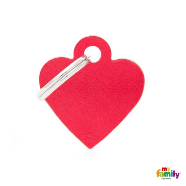 medaglietta cuore rosso