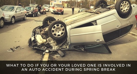 Auto Accident During Spring Break? What Should You Do?