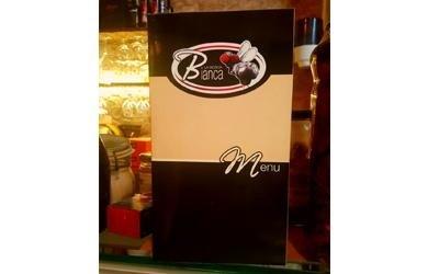 menu del pizzeria ristorante wine bar la mosca bianca