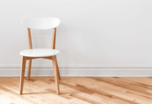 A white wooden chair