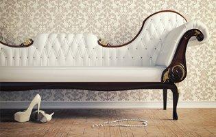 A white sofa