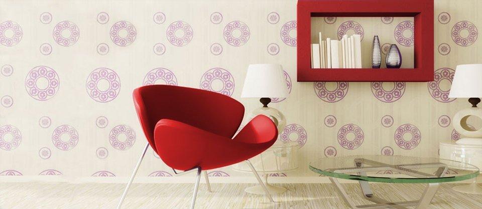 A decorative wallpaper