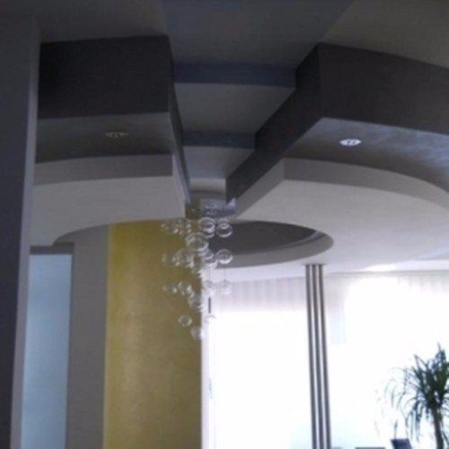 contro soffitto con sistema di illuminazione incorporato