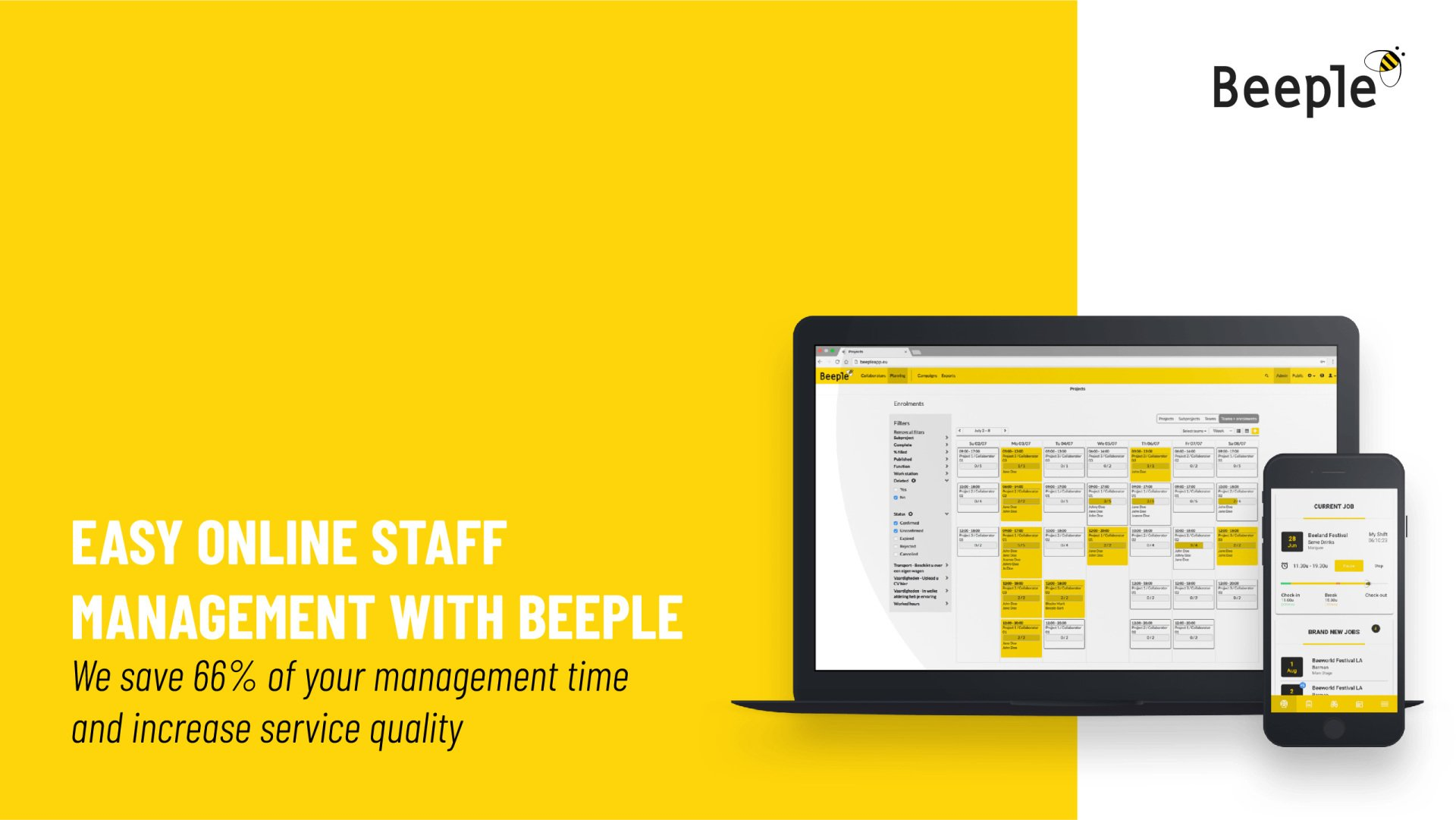 Online staff management and planning tool | Beeple