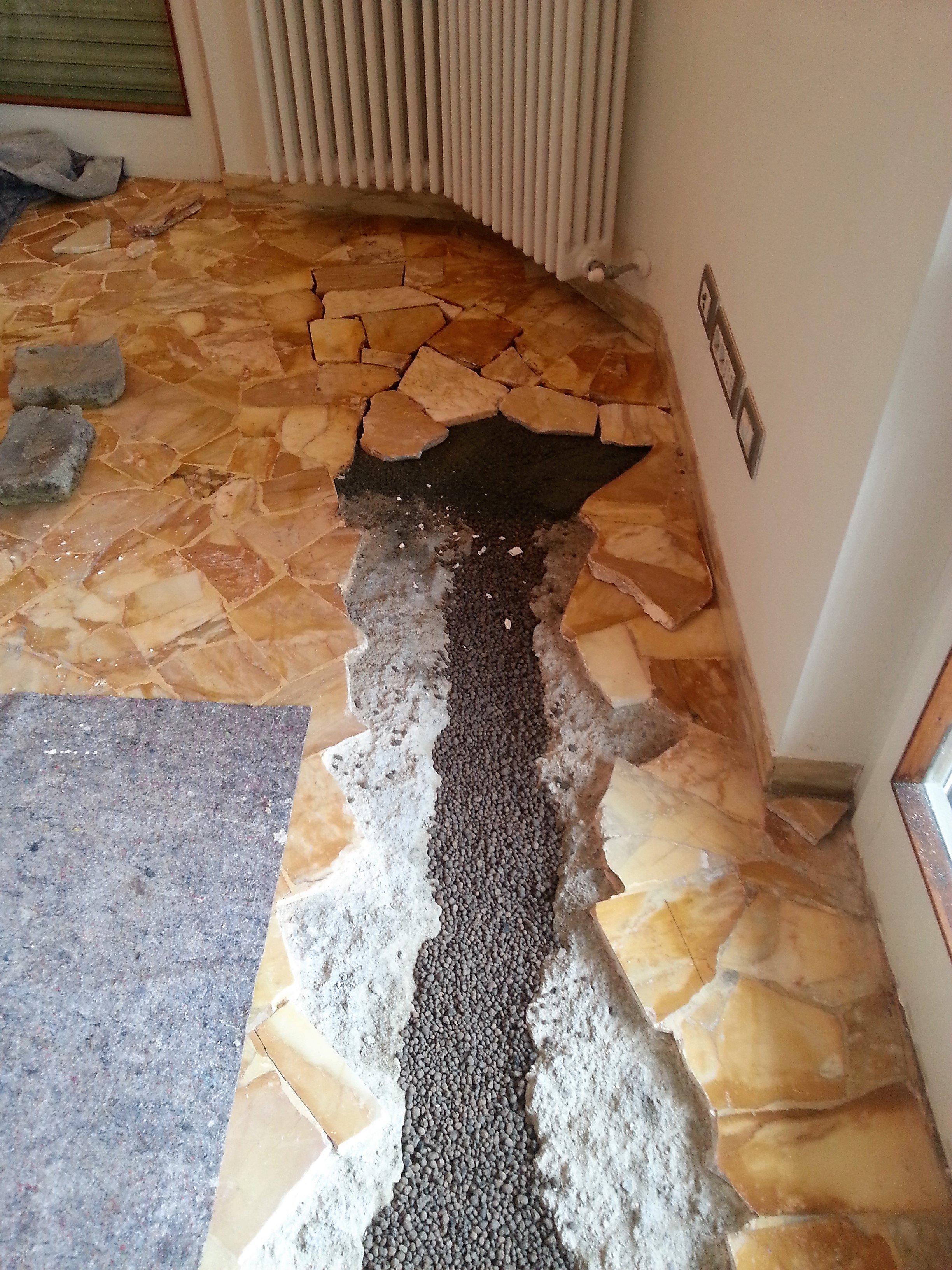 pavimento rotto