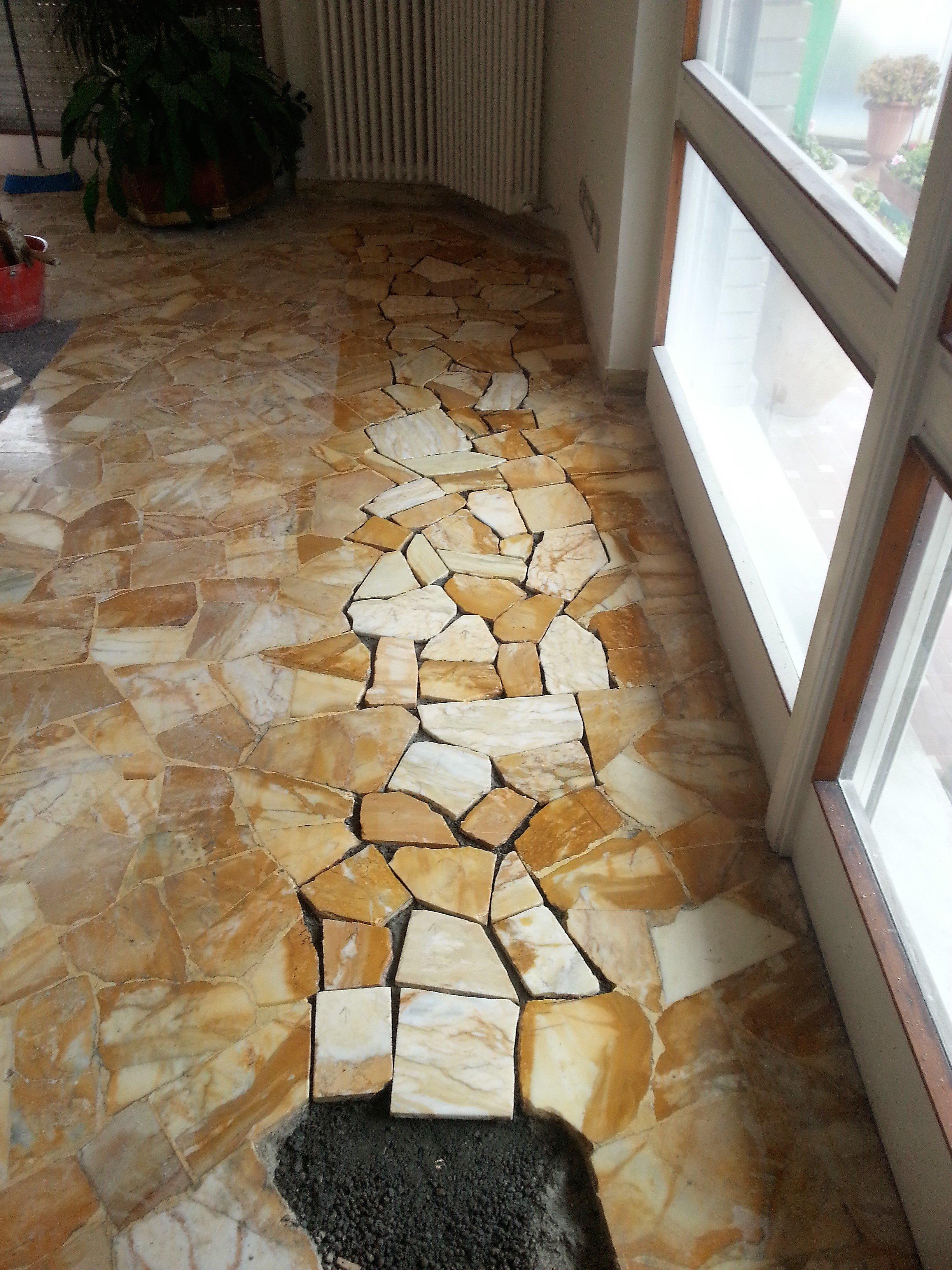 ricostruzione pavimento alla palladiana