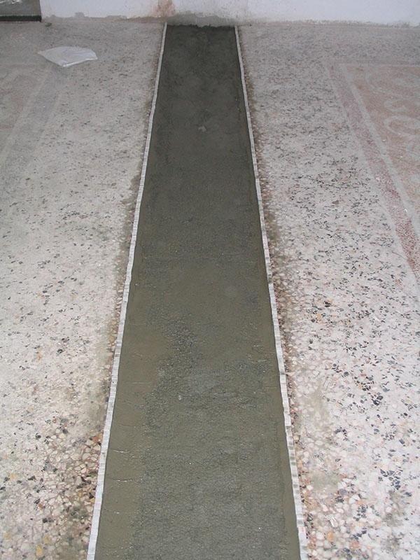 pavimento alla veneziana in fase di ripristino