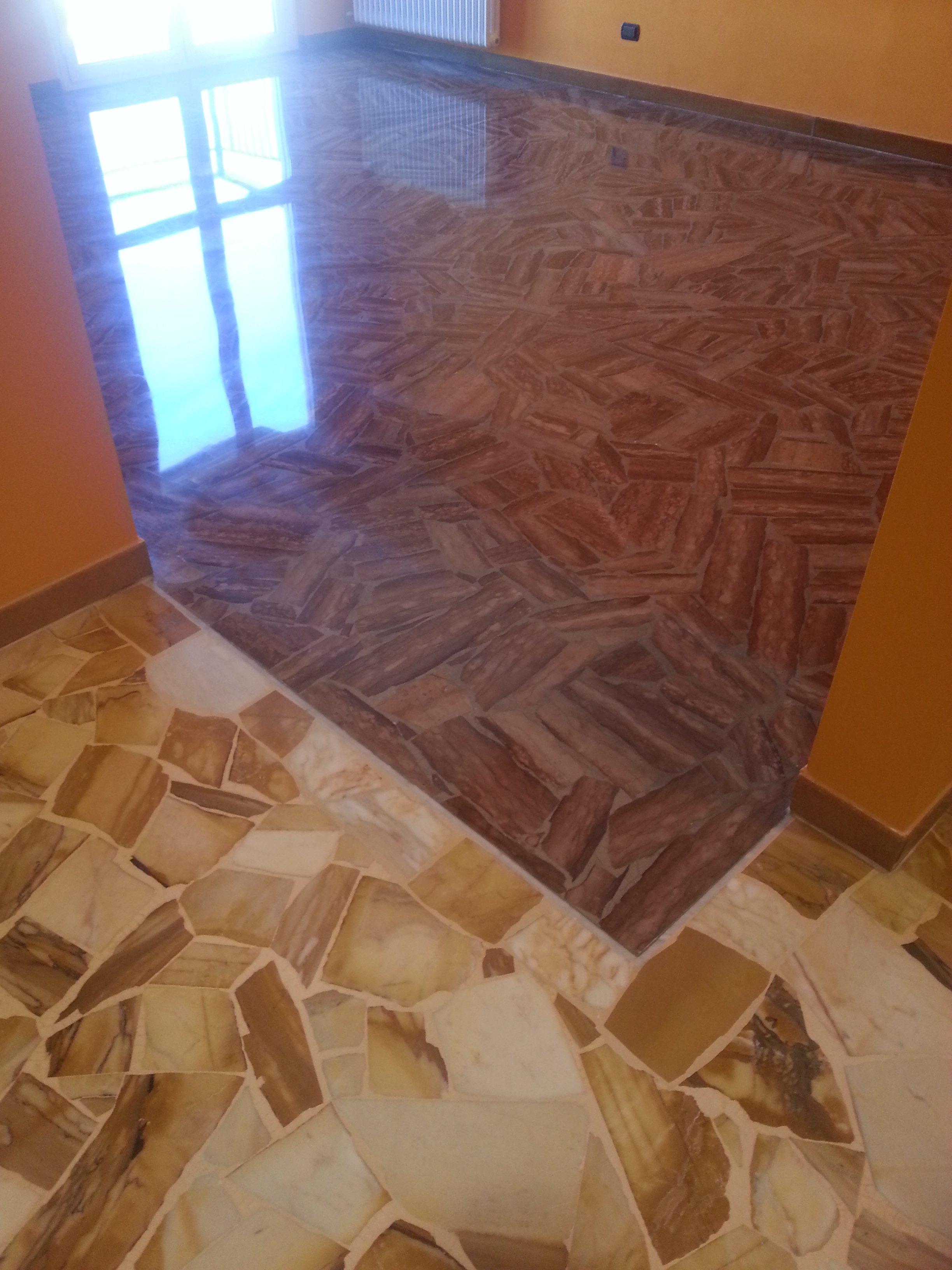 pavimento alla palladiana lucidato