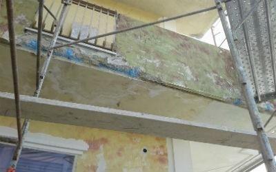Balcone in facciata