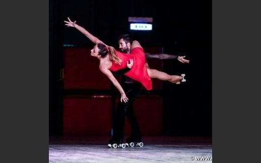 Esibizione dei due campioni del mondo Alessandro Spigai e Francesca Carella