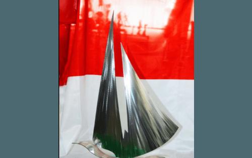 Trofeo con i colori della bandiera