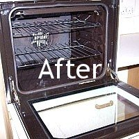 after oven cleaning