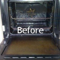 before cleaning appliance interiors
