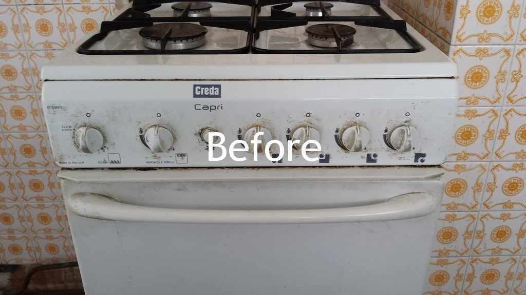 before gas hobs cleaning