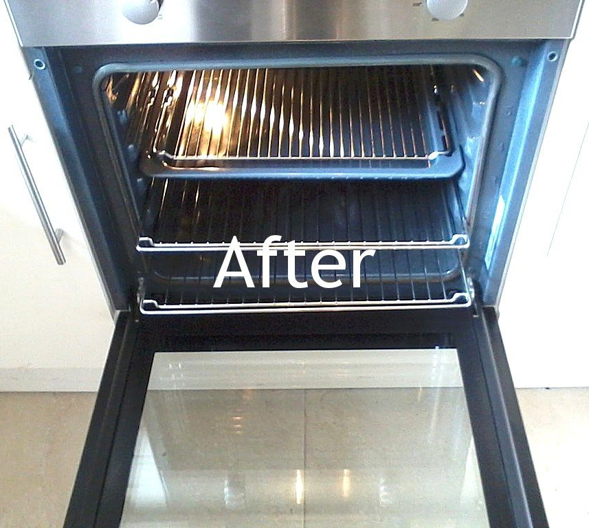 after oven tray cleaning