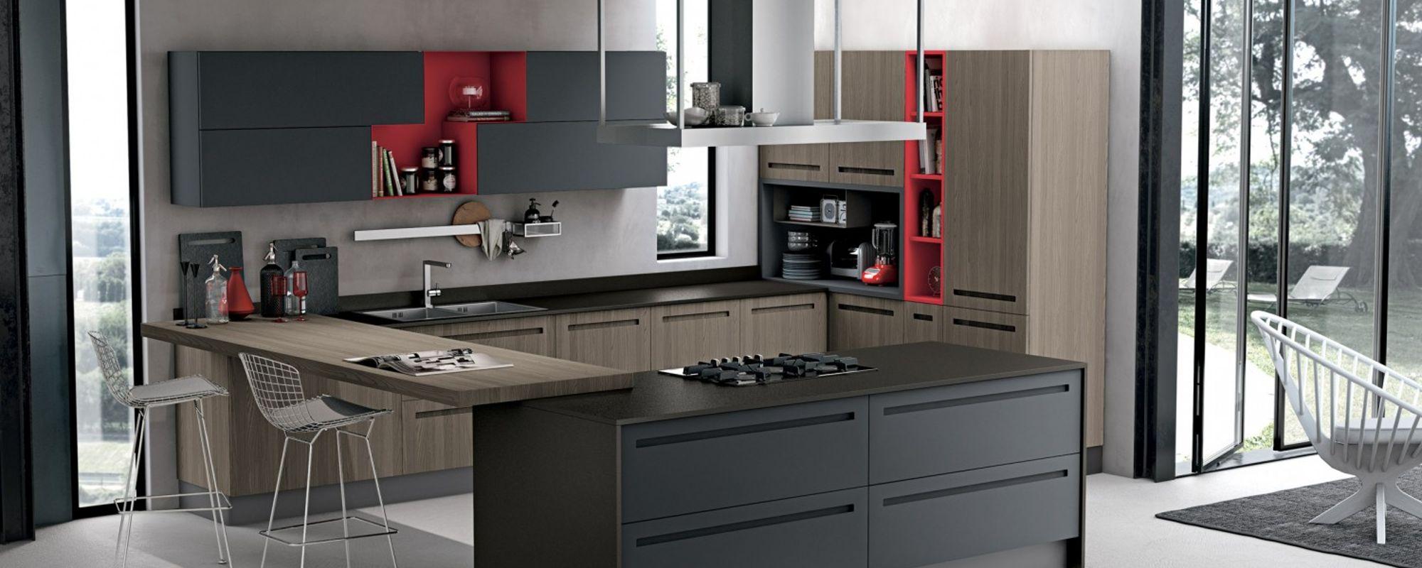 Vista di una cucina moderna a Cento