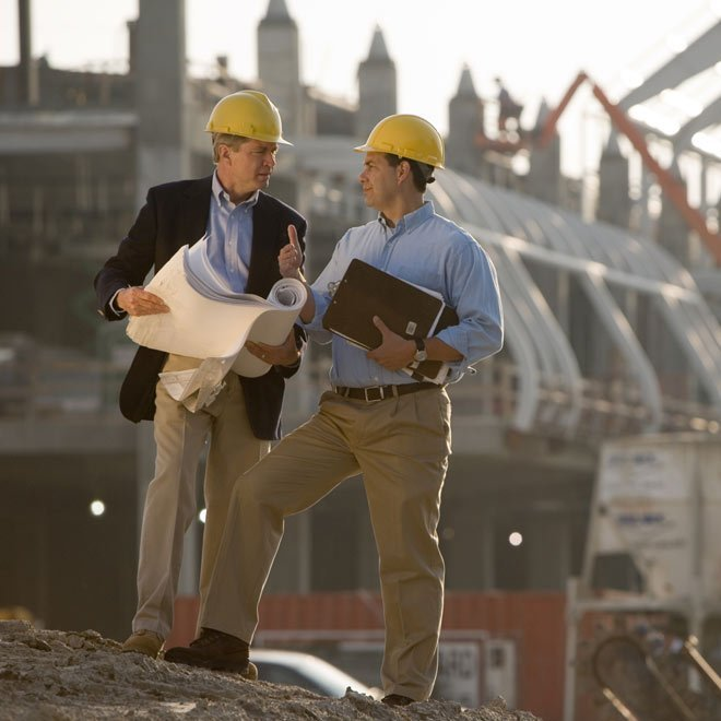 budget drafting service partners standing on the site