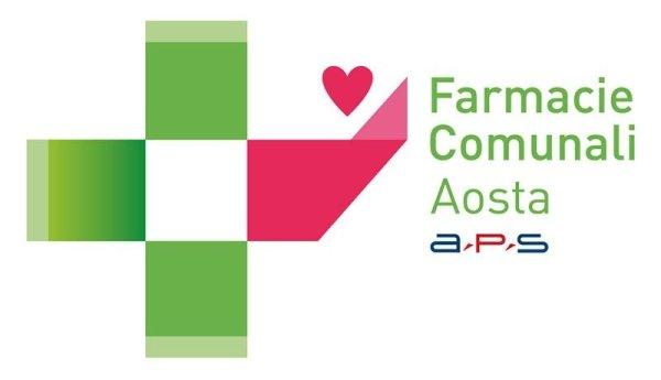 farmacia comunale Aosta con un cuore rosa