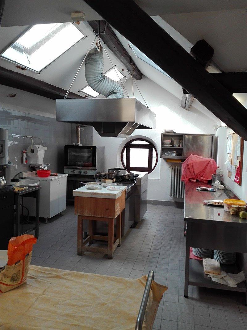 vista di una cucina professionale