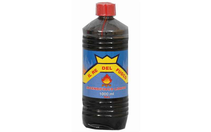 Accendifuoco liquido in bottiglia da un litro