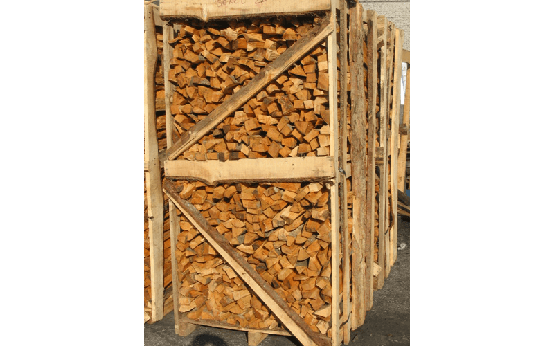Cassa di legna da ardere di faggio per pizzerie