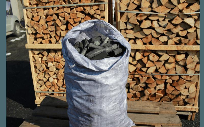 Sacco di juta carbone di legna kg 20