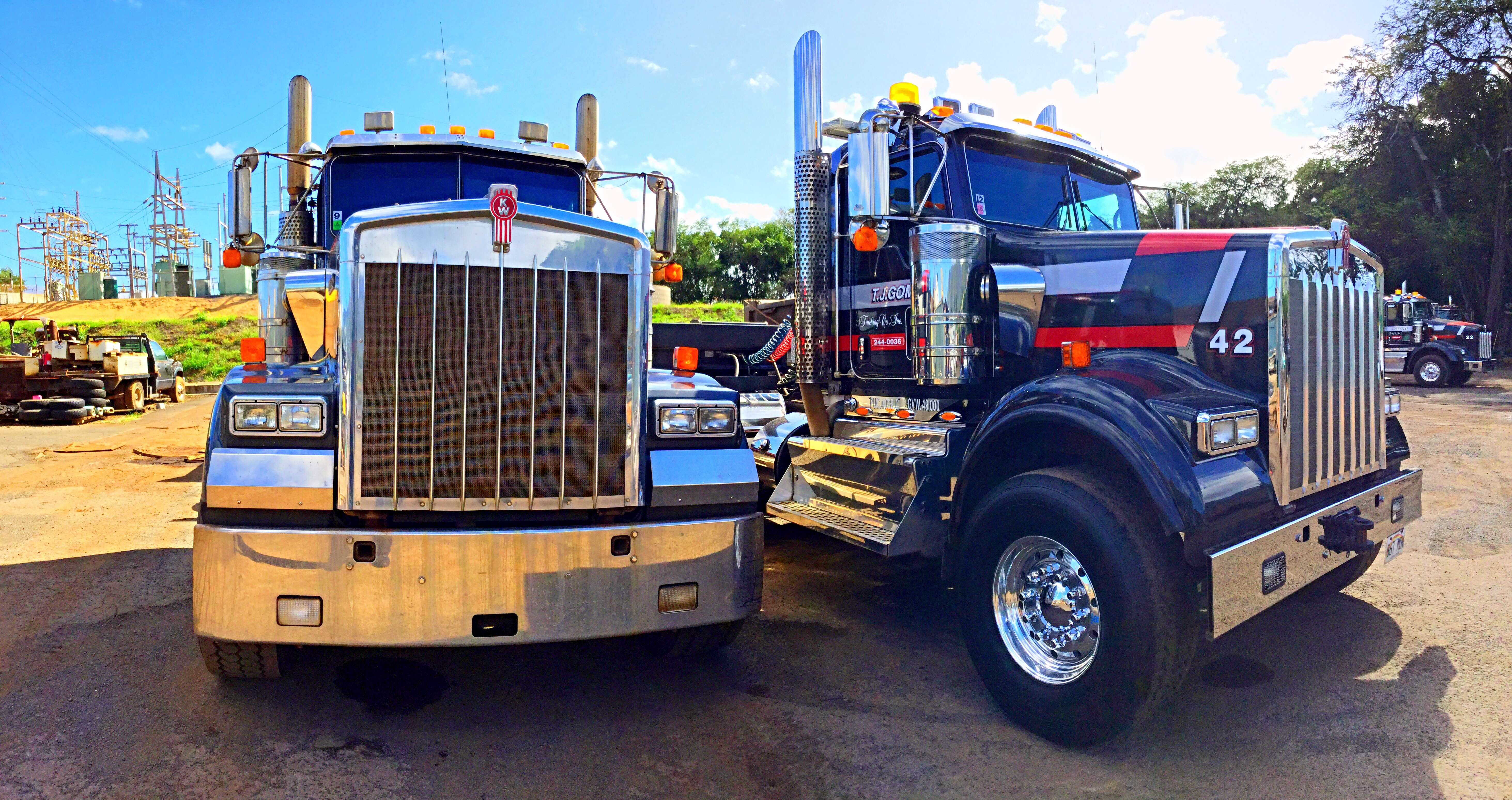Pair of trucks from TJ Gomes Trucking
