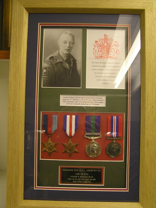 awards and medals framed
