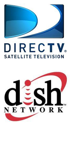 Direct TV and Dish Network logos