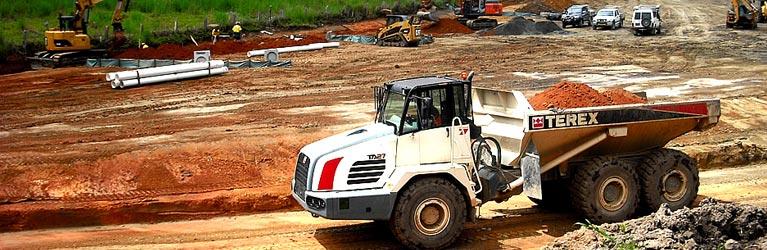burnett plumbing truck on work